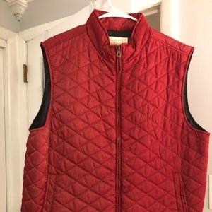 Weatherproof red vest